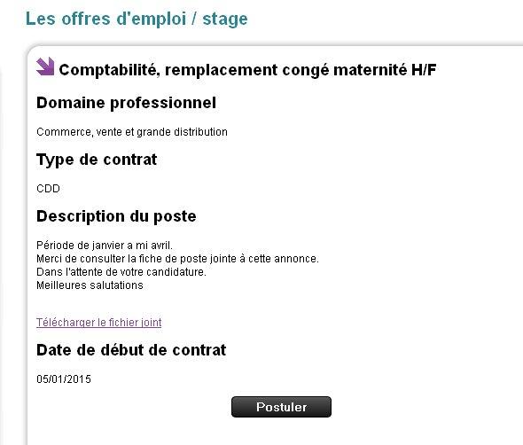 Offres d'emploi sur http://www.ceol.fr/offres/