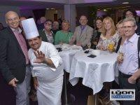 Participants et chef étoilé au 20 ème anniversaire des Gastronomes de Lyon au Sofitel de Lyon
