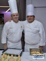 Laurent Bouvier, chef du restaurant chez Moss, Toque Blanche Lyonnaise et Christian Lherm, chef étoilé du restaurant les Trois Dômes (Sofitel de Lyon) et