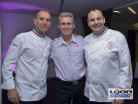 Davy Tissot, chef étoilé du restaurant SAISONS à Lyon, Christophe Roure, chef étoilé du neuvième Art à Lyon et le confiturier Philippe BRUNETON, meilleur ouvrier de France