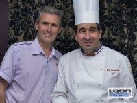 Guy Lassaussaie chef du restaurant Gastronomique à Chasselay et le confiturier Philippe BRUNETON, meilleur ouvrier de France