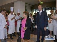 Danièle Pierrefeu et les chefs étoilés au 20 ème anniversaire des Gastronomes de Lyon au Sofitel de Lyon