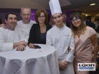 Participants et chefs étoilés au 20 ème anniversaire des Gastronomes de Lyon au Sofitel de Lyon