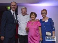 Les 2 présidentes de l'association les Gastronomes de Lyon, le chef Tetedoie et le DG du au Sofitel de Lyon