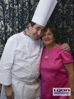 Danièle Pierrefeu et Guy Lassaussaie chef étoilé du restaurant Gastronomique à Chasselay