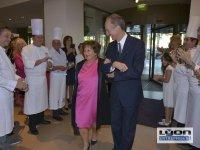 Danièle Pierrefeu et Jacques Bourguignon, directeur général Sofitel Lyon au 20 ème anniversaire des Gastronomes de Lyon au Sofitel de Lyon