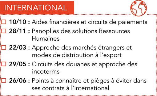 Formations CPME : International 2017 -2018