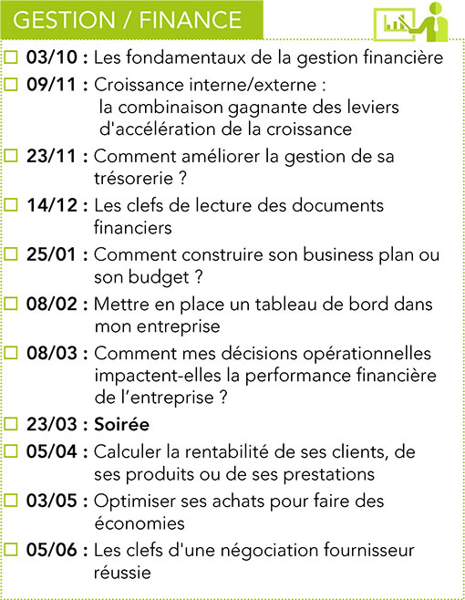 Formations Gestion & Finance CPME 2017 -2018