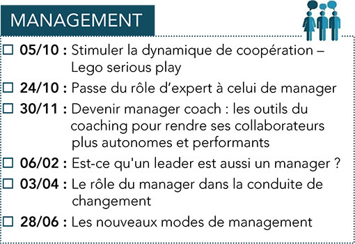 Formations CPME : Management 2017 -2018