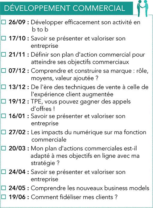 Formations Développement commercial CPME 2017 -2018