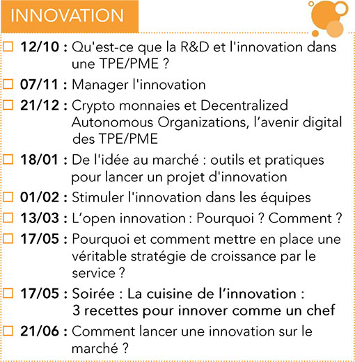 Formations Innovatoin CPME 2017 -2018