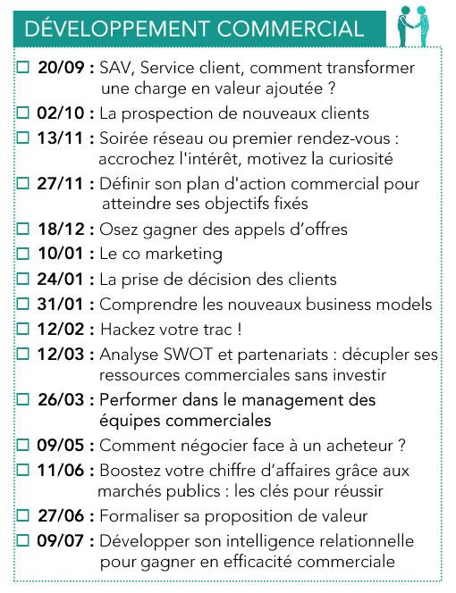Formations Développement commercial CPME 2018 - 2019